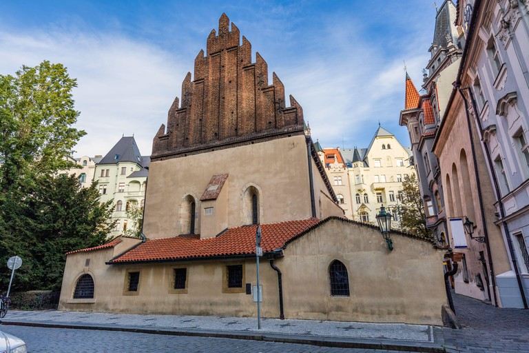 The Old New Synagogue also called or Altneuschul was completed in 1270 and is Europe's oldest active synagogue