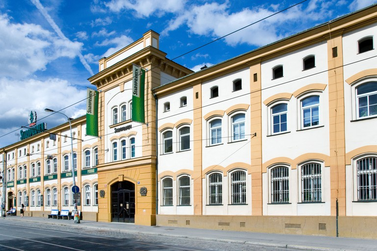 Explore the brewery complex in the industrial-turned-trendy district of Smíchov