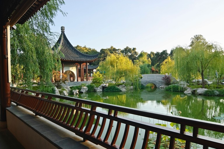 Beautiful Chinese Garden at the Huntington Library.