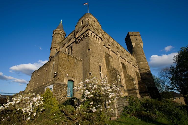An exterior view of the Castle climbing centre in Stoke Newington.