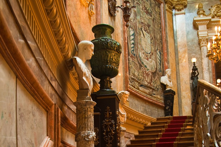 Staircase in the Museo de Cerralbo, Madrid, Spain