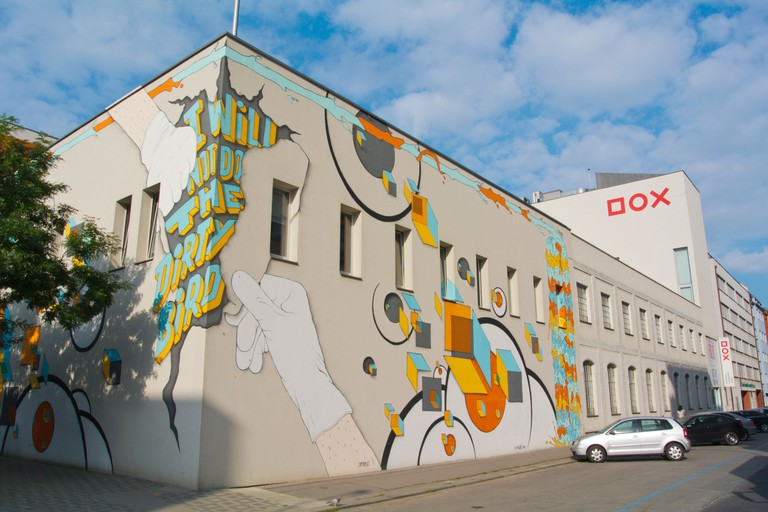 DOX Centre for Contemporary Art is in the Holesovice district