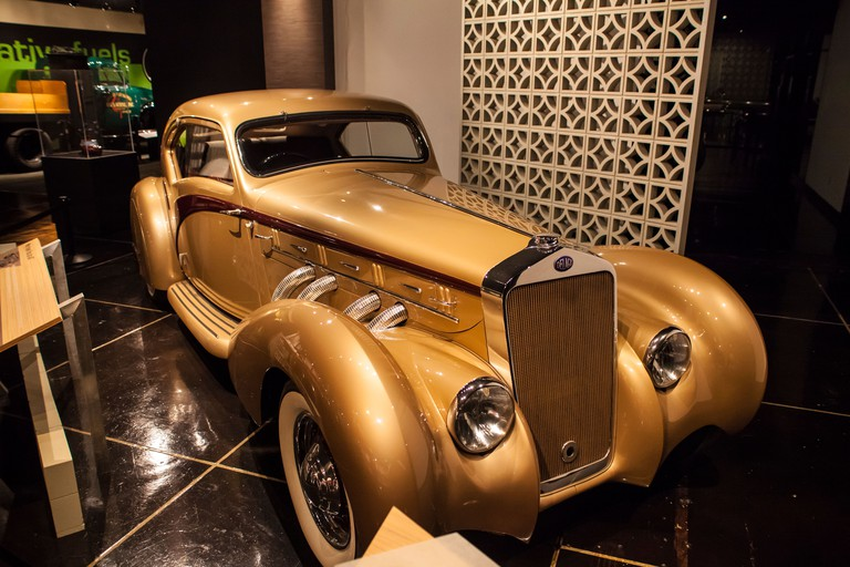 1937 Delage D-8 Coupe Aerosport at the Petersen Museum in Los Angeles California