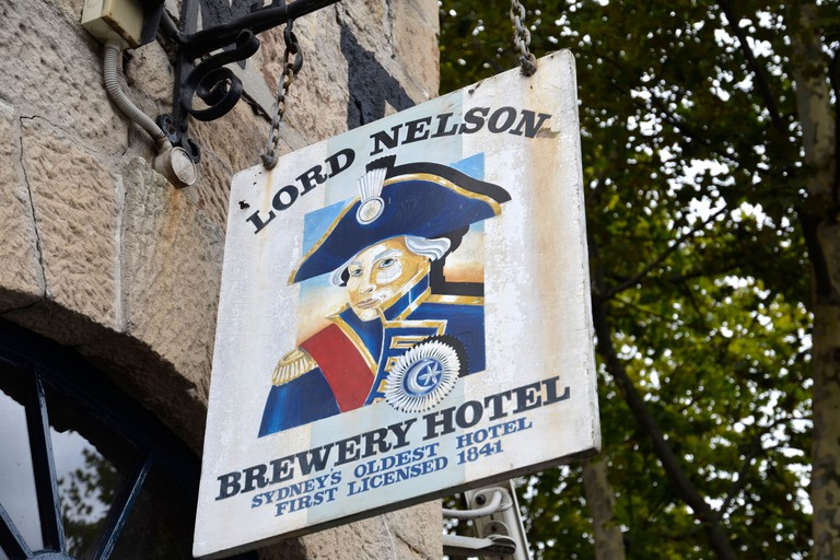 The Lord Nelson Hotel in Sydney's historic Rocks area