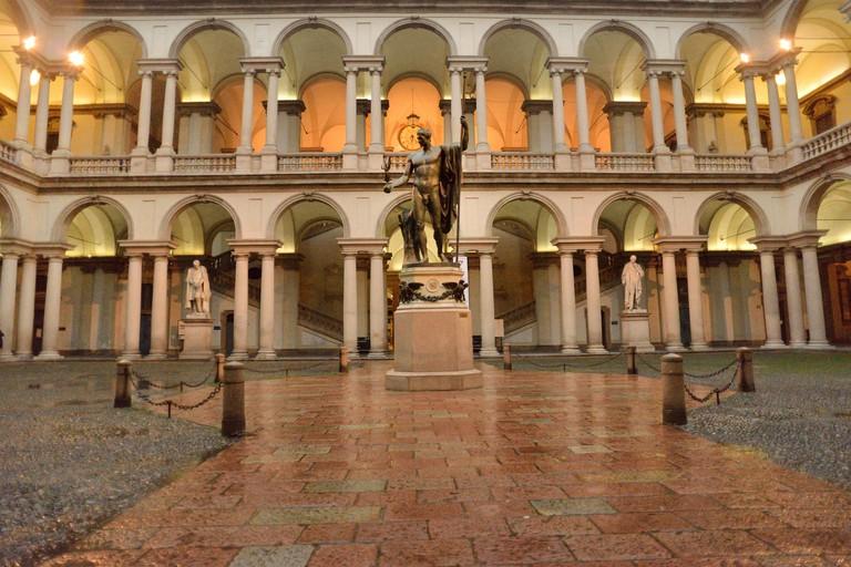 Courtyard Palazzo Brera, Milan, Italy