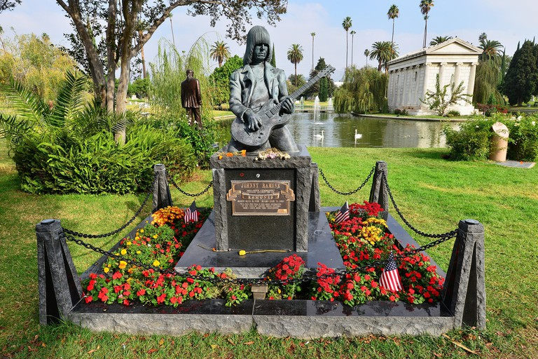 The Tombstone of Johnny Ramone. Image shot 2014. Exact date unknown.