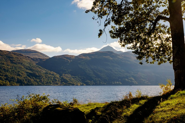 Looking across to Ben Lomond, Scotland