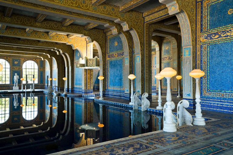The Roman Pools at Hearst Castle.