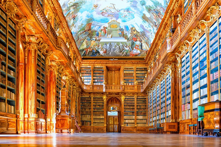 The interior of the Library in the Strahov Monastery