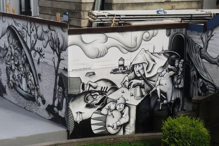 BELGIUM BRUEGEL STREET ART BRUSSELS