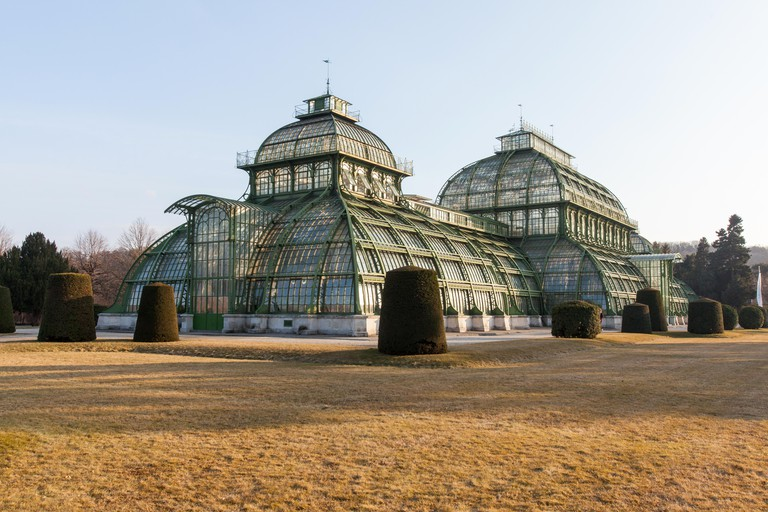 The Palmenhaus looks almost otherworldly