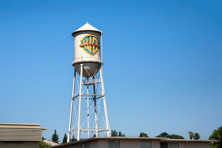 Los Angeles, United States of America - July 19, 2017: The world-famous Warner Bros. studio where visitors get a chance to have a tour inside the working studio and see how movies and TV shows are made.