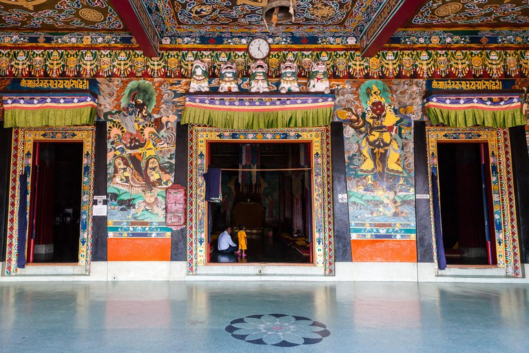 Rumtek Monastery, largest monastery in Sikkim, India.