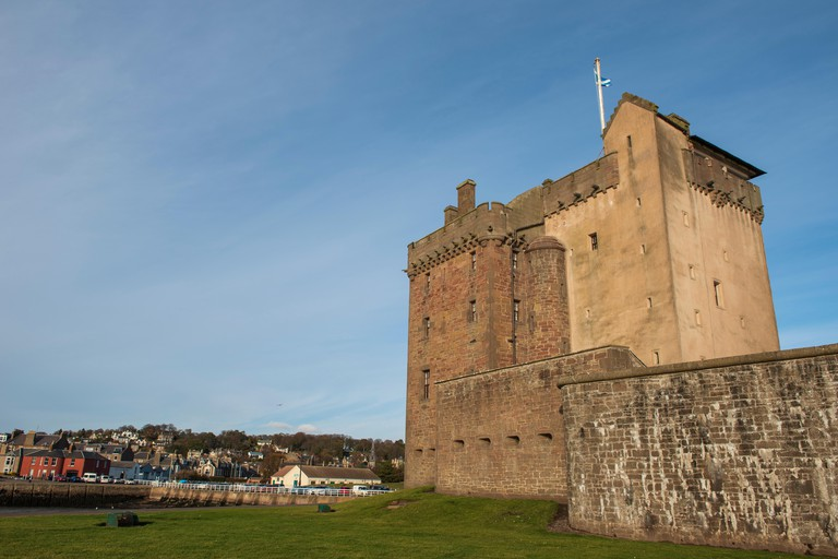 Broughty Castle, Broughty Ferry, Dundee, Tayside, Scotland.