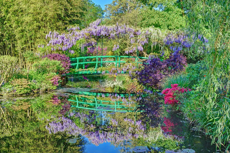 See the actual bridge from Claude Monet's Water Lily paintings in Giverny