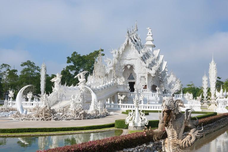 The Wat Rong Khun White Temple, Chiang Rai, Thailand