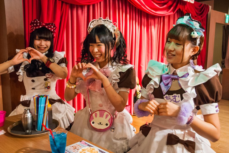 Maid cafe in Tokyo's Akihabara district