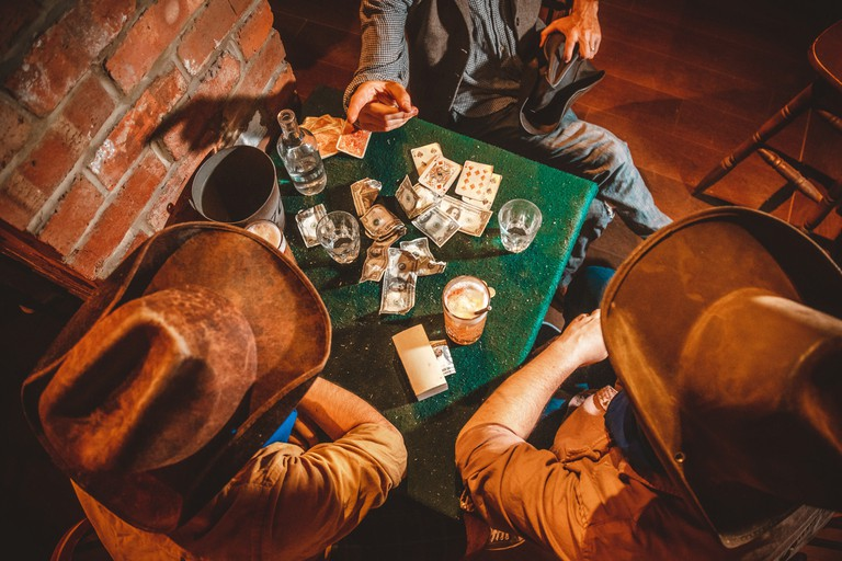 Challenge the locals to a card game in your best Wild West get up