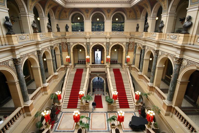 Interior of Czech Republic National Museum in Prague