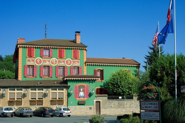 L'Auberge du Pont de Collonges, Paul Bocuse restaurant, Collonges-Au-Mont d'Or, near Lyon, Rhone valley, France, Europe,