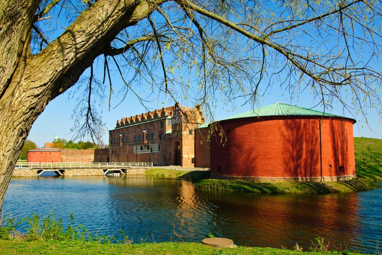 Malmohus slott a 15th century moated fortress adjoining the Old Town of Malmo Sweden