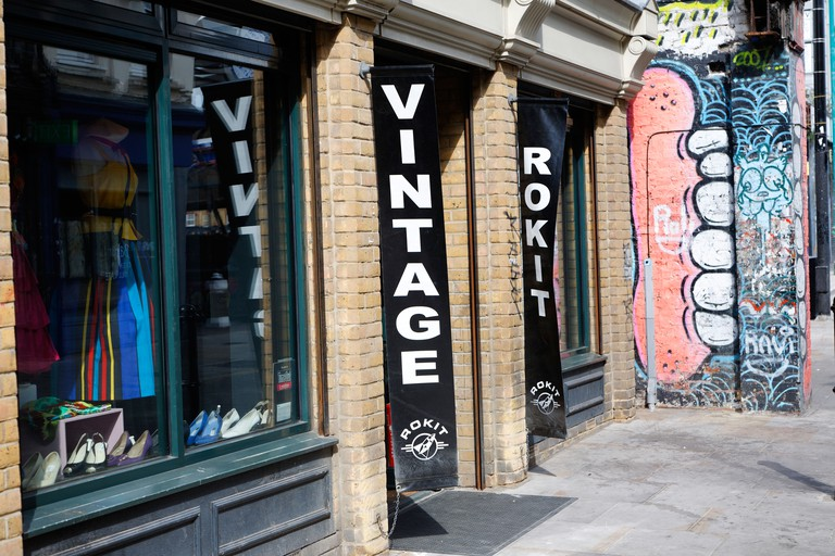 Rokit vintage clothes shop Brick Lane London England. Image shot 04/2009. Exact date unknown.
