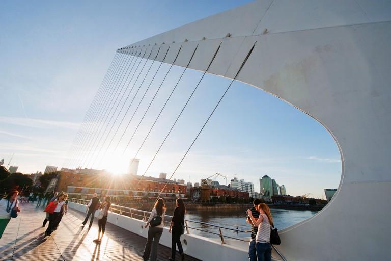 Puente de la Mujer, Buenos Aires, Argentina, South America