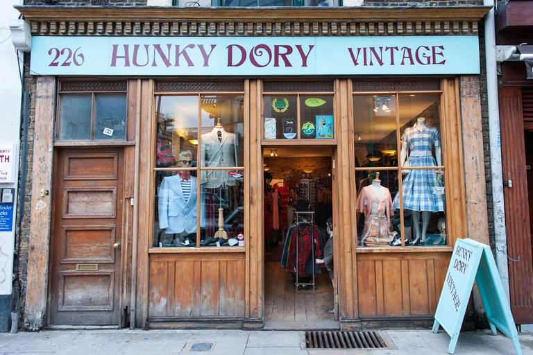 London East End Brick Lane The Hunky Dory vintage used second hand old clothes shop store