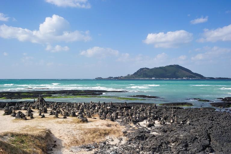 Hyeopjae Beach in Jeju Island, South Korea