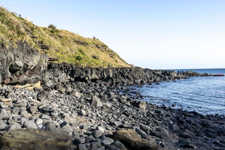 Geommeolle Beach Scenery in Jeju Island, South Korea