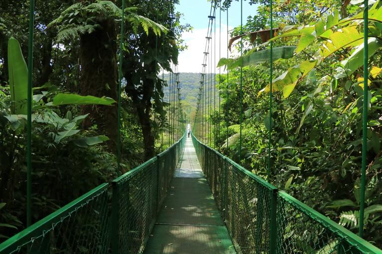 Hanging bridge in Monteverde, Costa Rica