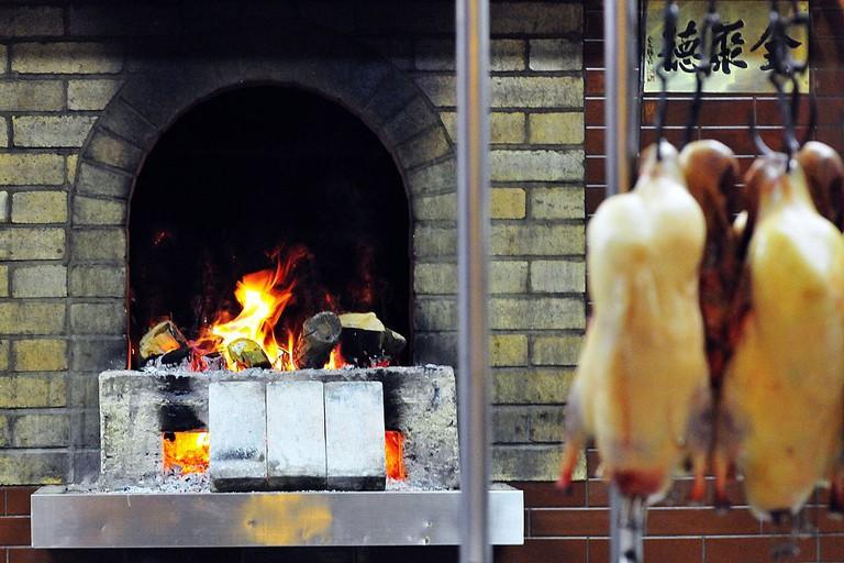 Charcoal stove for Beijing Roast Duck in Quanjude Roast Duck
