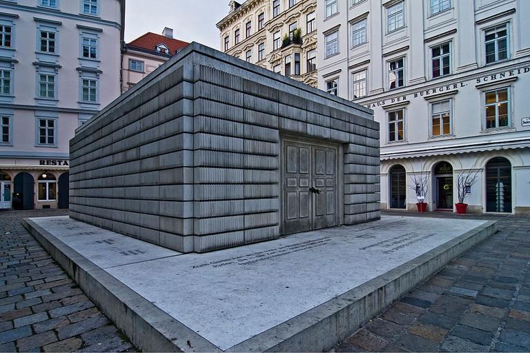 Memorial At Judenplatz