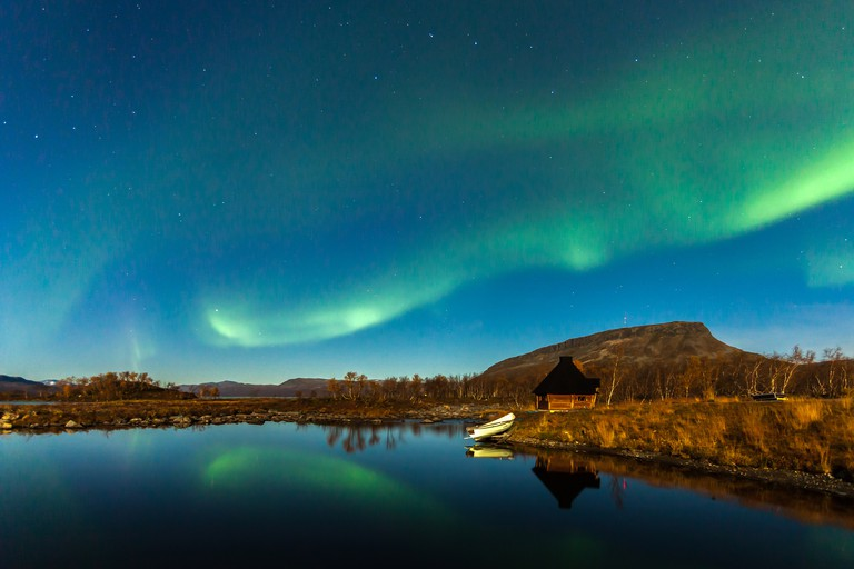 Northern lights in Northern Finland