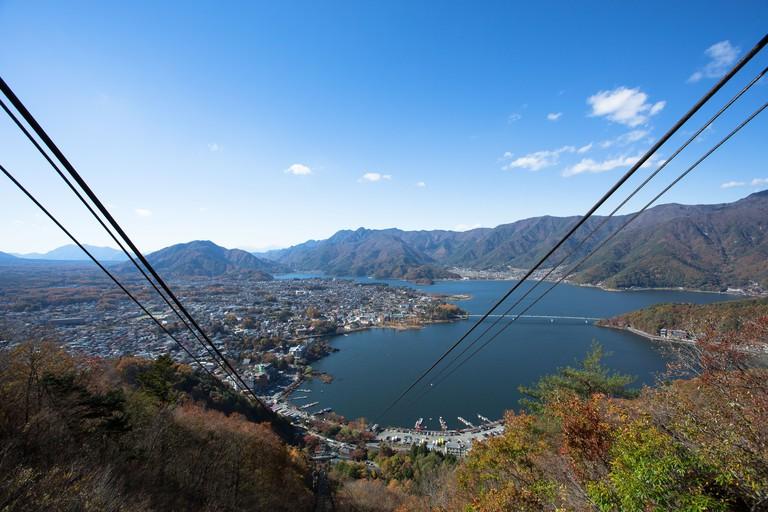 Lake Kawaguchi from Mount Tenjo