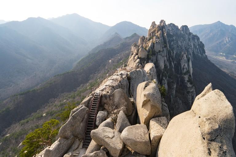 Seoraksan National Park, Mountain Range, South Korea.
