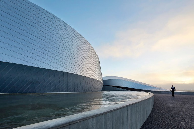 The Blue Planet Aquarium, Copenhagen, Denmark. Architect