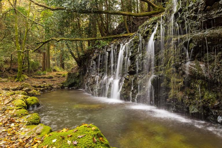 Chisuji waterfall, near Hakone. Japan.