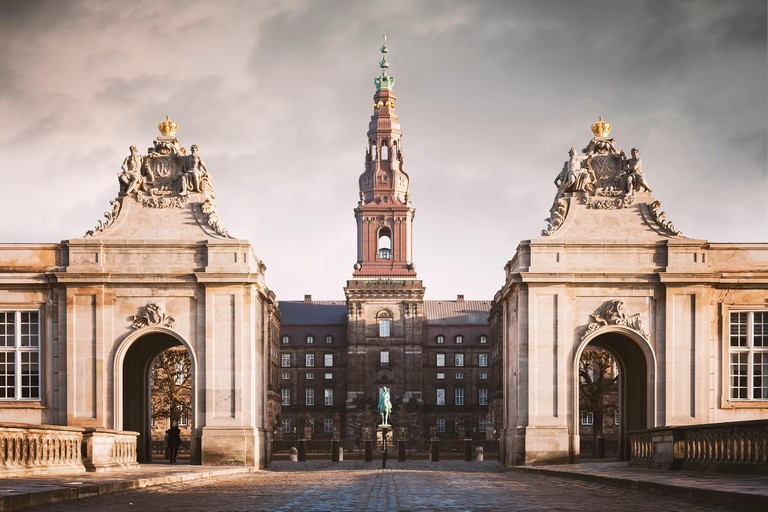 Grand entry to Christiansborg castle
