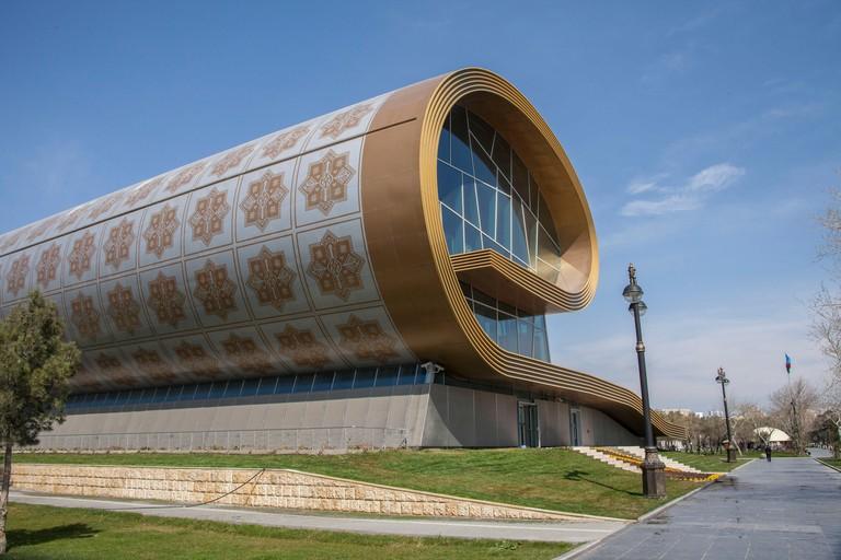 Exterior of Baku's Carpet Museum.
