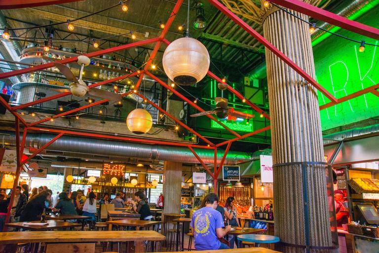 Bar restaurant in San Ildefonso Market