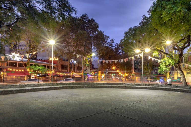 Plaza Serrano in Palermo Soho at night - Buenos Aires, Argentina
