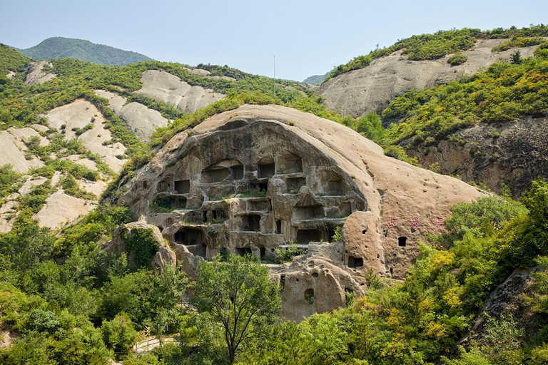 Guyaju cave dwelling Guyaju caves Ancient cave dwellings  Ancient Cliff Dwellings in Yanqing, China, Asia
