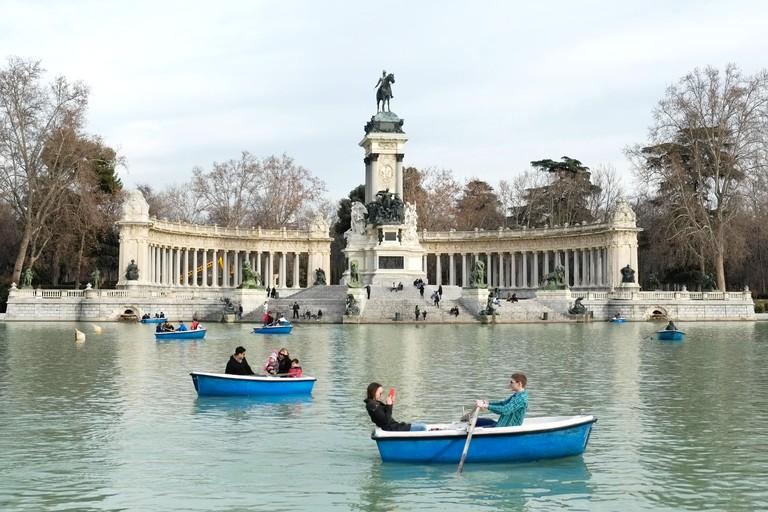 Boating on the lake, El Retiro Park, Madrid