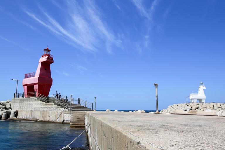 Iho Lighthouse at Iho Tewoo beach