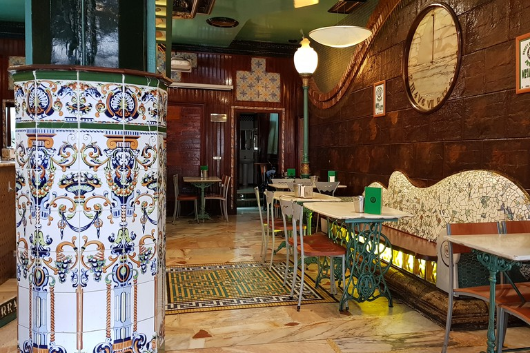 Interior of La Cervecería