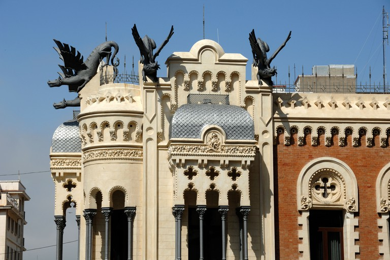 House of Dragons, or Casa de los Dragones, Ceuta, Spain.