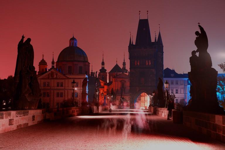 Prague - Charles bridge in the night