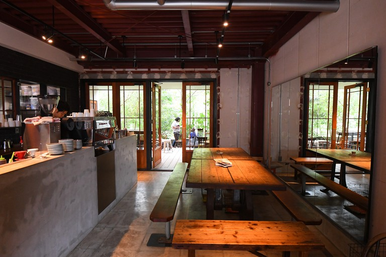 Interior of Vermillion cafe