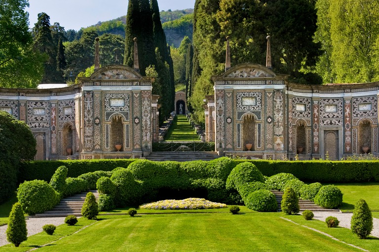 Italy,Lombardy,Cernobbio,Villa d'Este gardens
